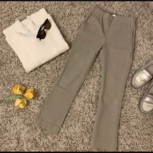 Gap cropped flare pants in khaki